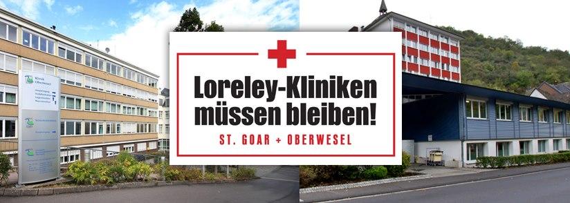 Loreley-Kliniken müssen bleiben! St. Goar und Oberwesel brauchen eine starke Infrastruktur