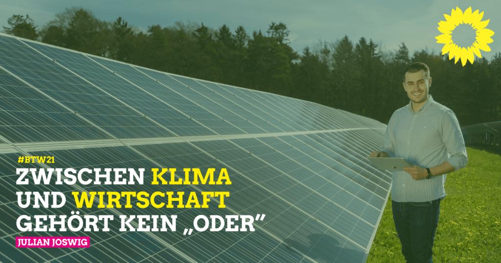 Julian Joswig ist Grüner Direktkandiat für die Region